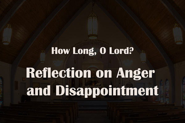 Reflection on Anger and Disappointment