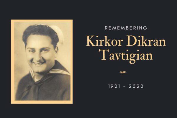 Obituary - Kirkor Dikran Tavtigian