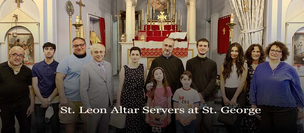 St. Leon Altar Servers visit St. George Hartford CT