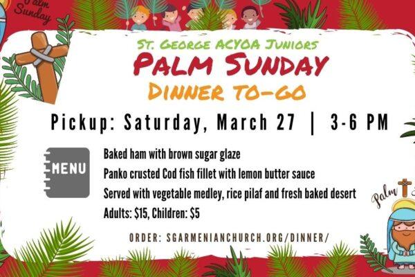 acyoa palm sunday dinner