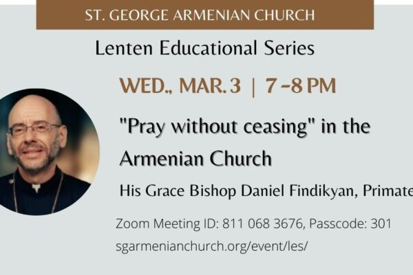"""""""Pray without ceasing"""" in the Armenian Church"""