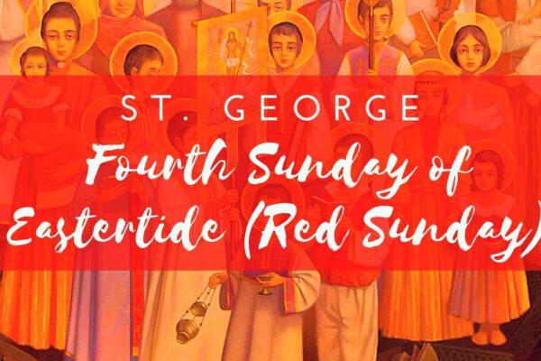 Red Sunday Apr. 25, 2021