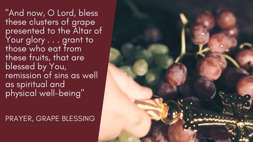 prayer grape blessing